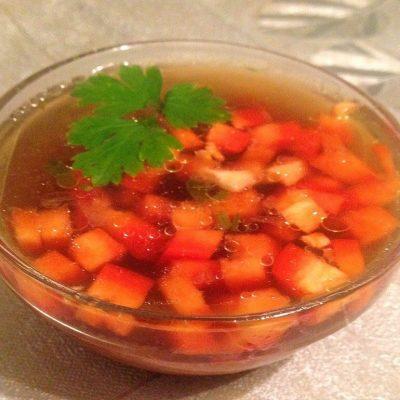 Курино-грибной бульон - рецепт с фото