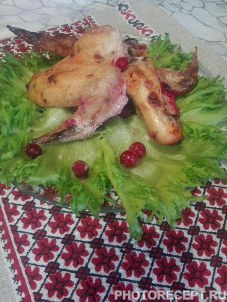 Фото рецепта - Куриные крылышки в чесночно-клюквенном маринаде - шаг 5