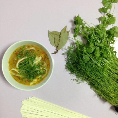 Овощной суп с пшеничной лапшой - рецепт с фото