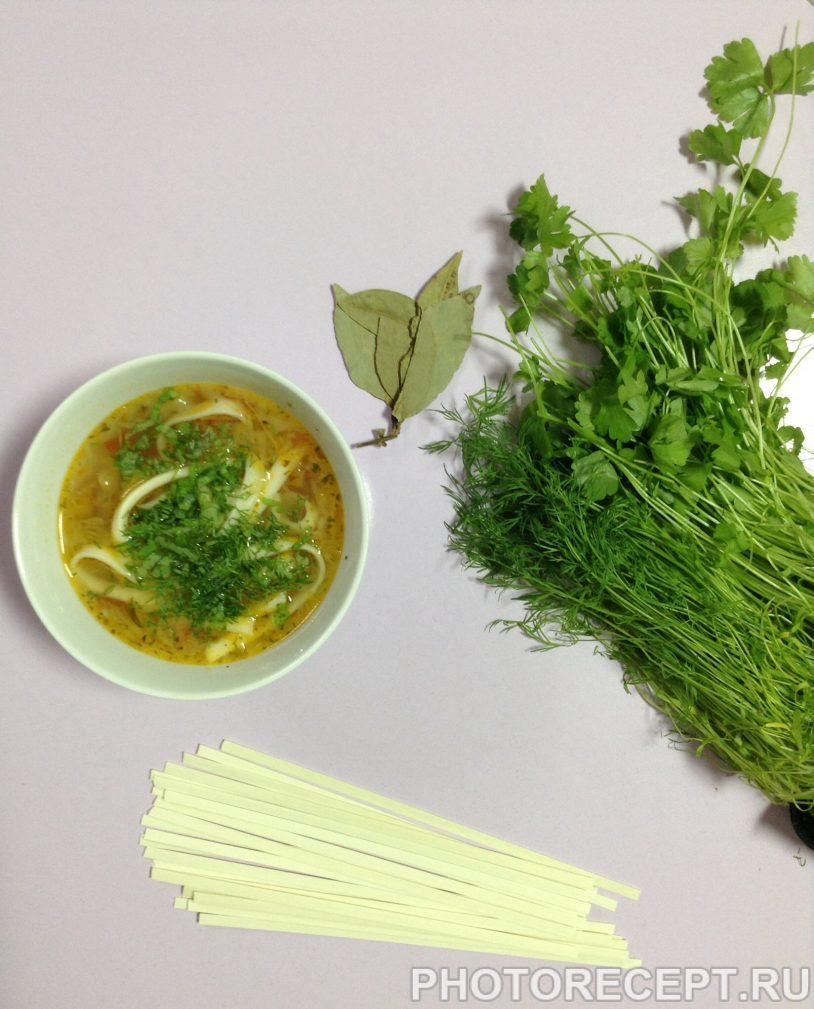 Фото рецепта - Овощной суп с пшеничной лапшой - шаг 6