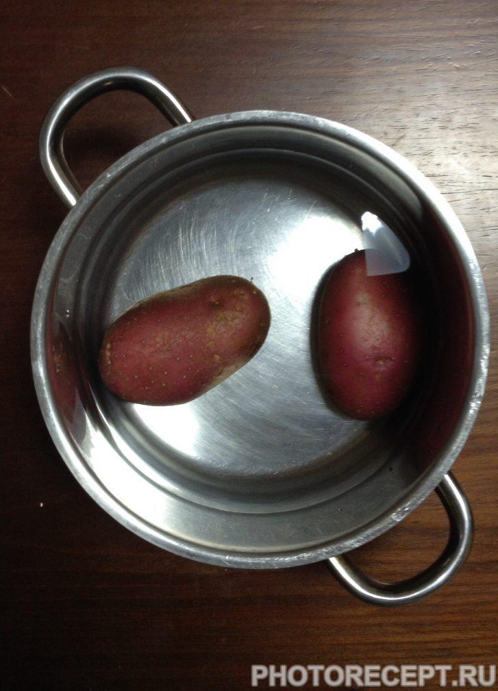 Фото рецепта - Картофельные лодочки, фаршированный шпинатом и перцем - шаг 2