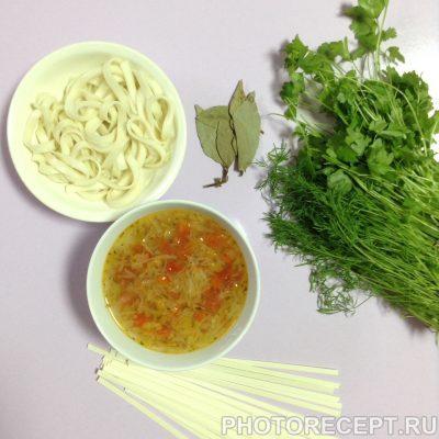 Фото рецепта - Овощной суп с пшеничной лапшой - шаг 5