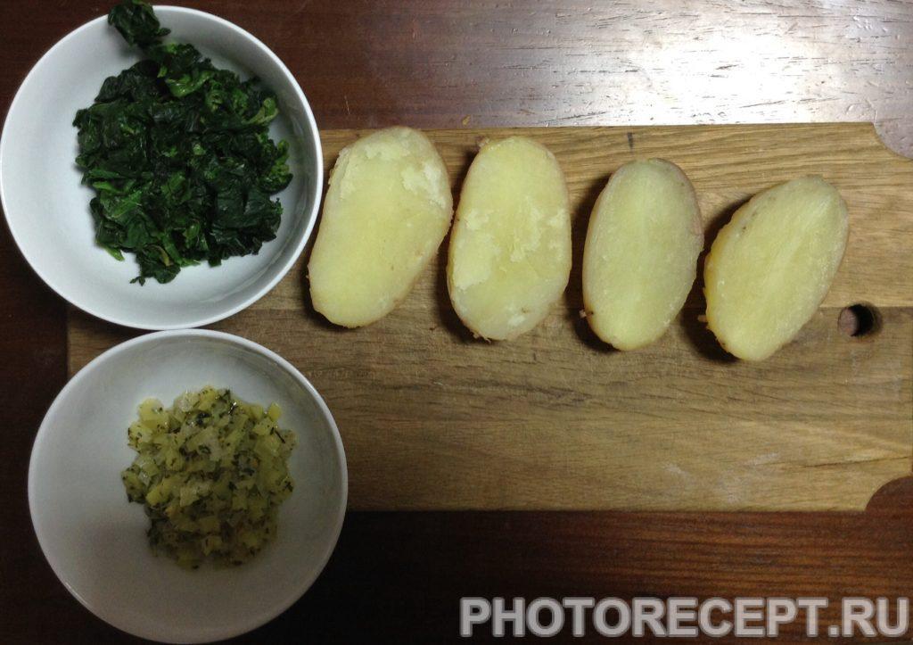 Фото рецепта - Картофельные лодочки, фаршированный шпинатом и перцем - шаг 4
