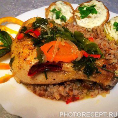 Тушеная курочка с овощами - рецепт с фото