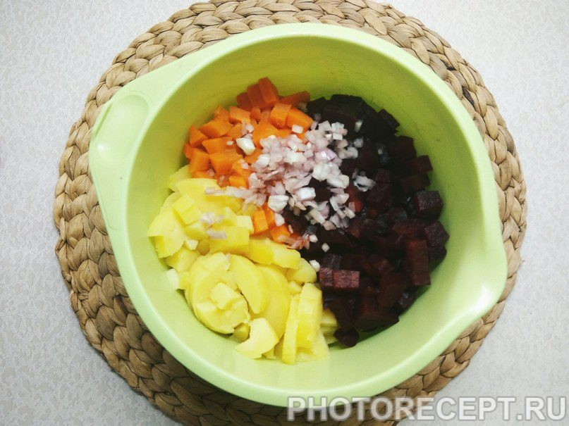 Фото рецепта - Студенческий винегрет - шаг 5