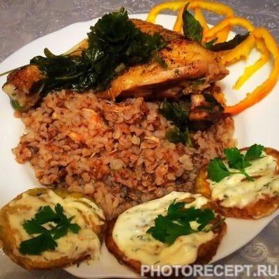 Жареные кабачки в чесночном соусе - рецепт с фото