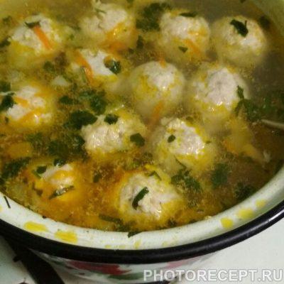Суп с фрикадельками куриными - рецепт с фото