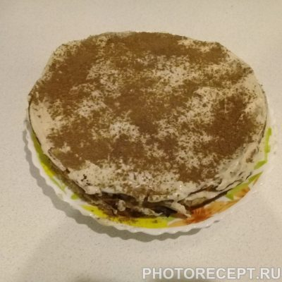 Фото рецепта - Шоколадно-ореховый торт - шаг 4