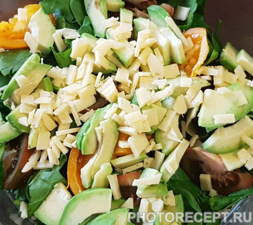 Фото рецепта - Салат из авокадо и шпината - шаг 4