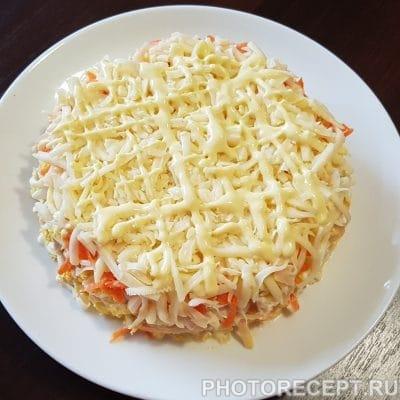 Фото рецепта - Слоеный салат с курицей и яблоком - шаг 9