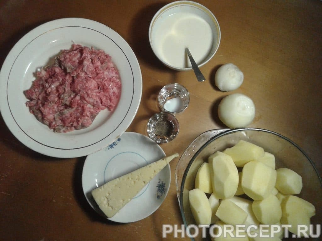 Фото рецепта - Картошка по-французски с фаршем - шаг 1