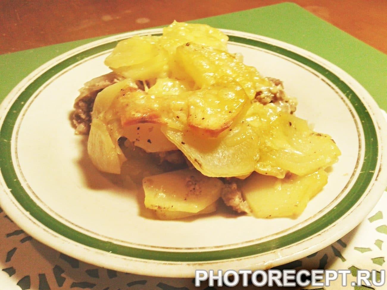 Картошка по-французски с фаршем