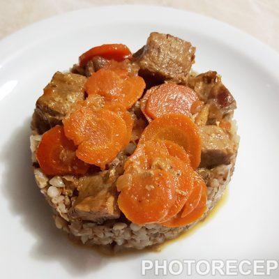Гречневая каша с говядиной - рецепт с фото