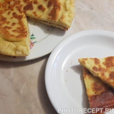 Фото рецепта - Лепешки с сыром на кефире - шаг 6