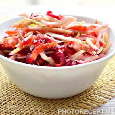 Салат из свеклы с капустой и гранатом - рецепт с фото