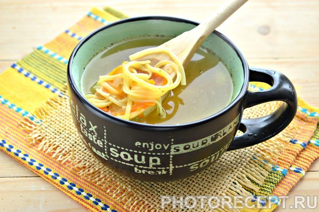 Фото рецепта - Суп-лапша на курином бульоне - шаг 7