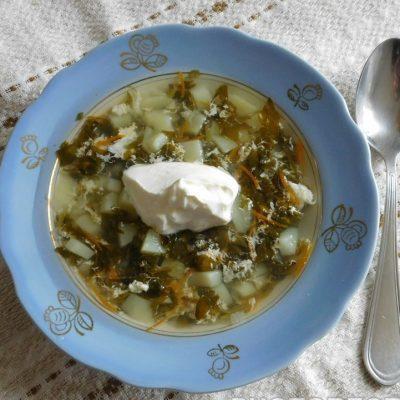 Легкий щавелевый суп без мяса - рецепт с фото