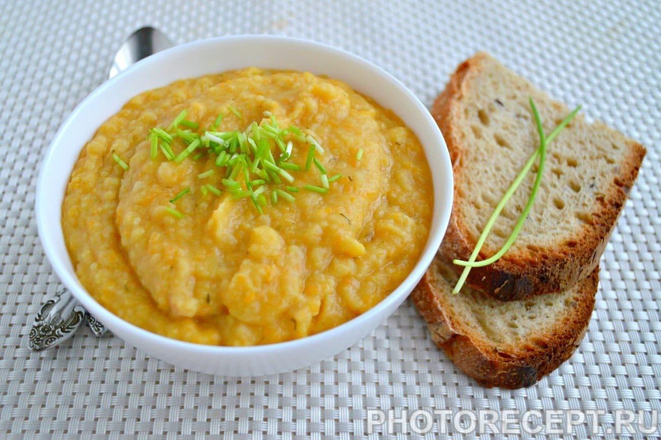 Гороховый крем-суп с пастернаком