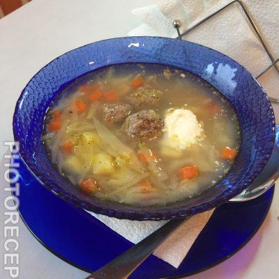 Щи из свежей капусты с фрикадельками - рецепт с фото