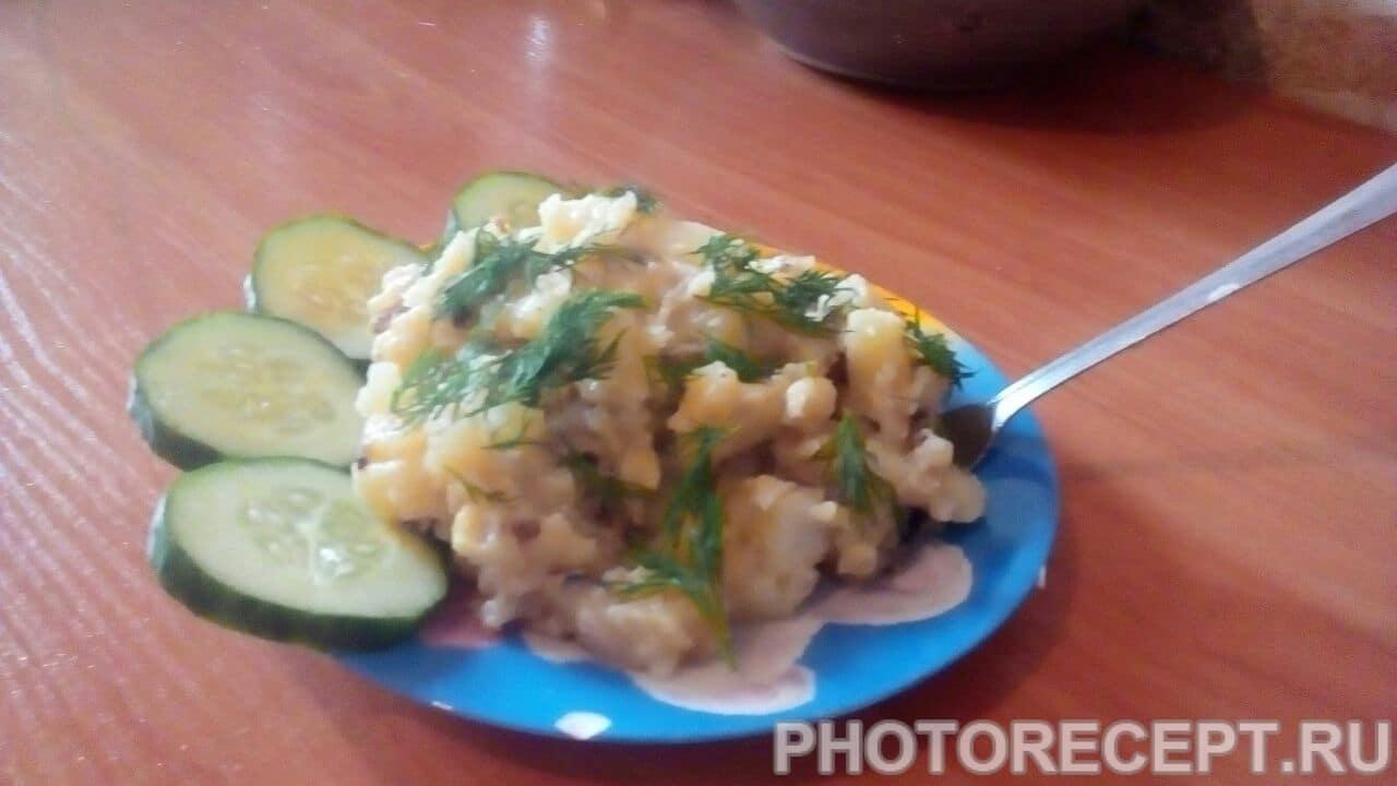 Картошка с грибами в мультиварке фото-рецепт