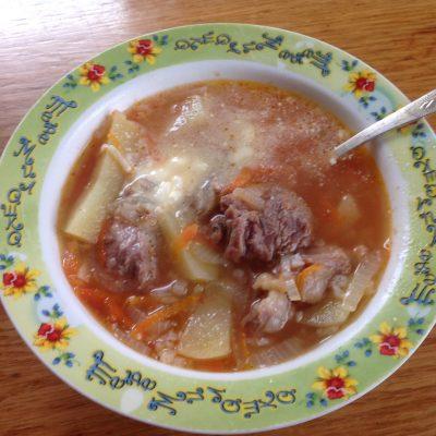 Суп харчо из свиных ребрышек - рецепт с фото