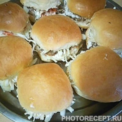 Гамбургеры «Домашние» с мясной котлетой - рецепт с фото