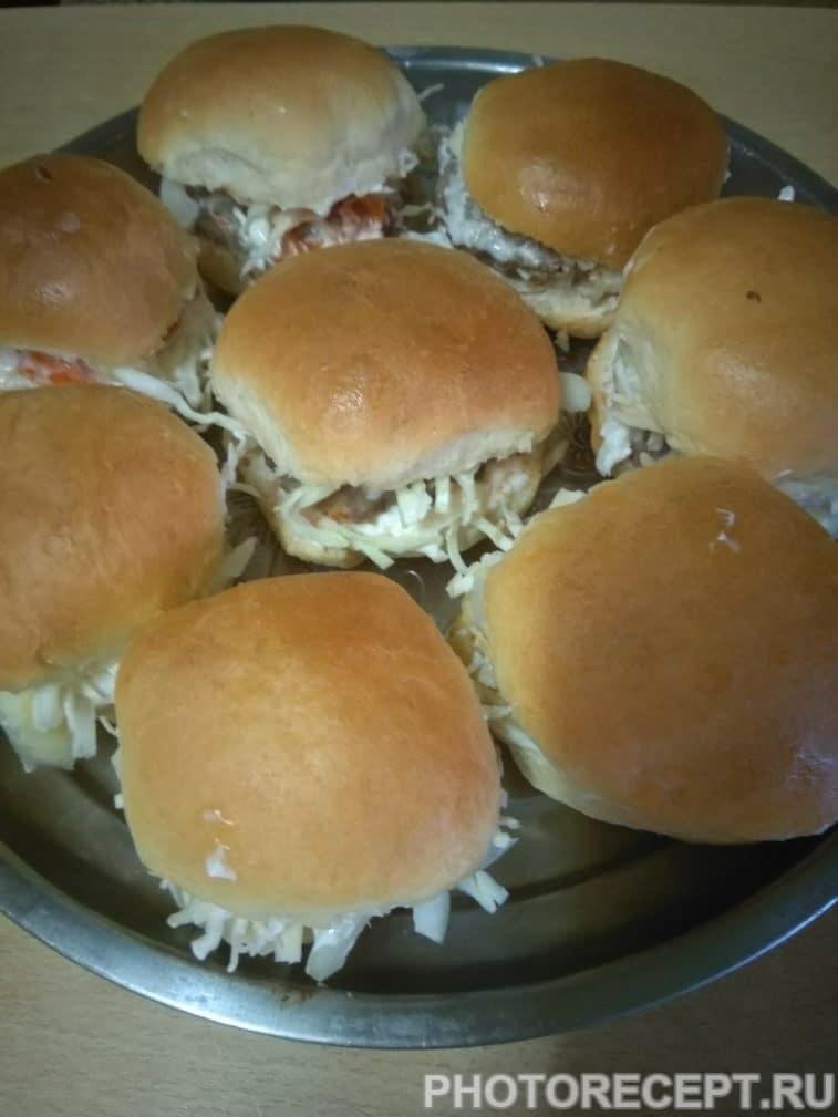 Фото рецепта - Гамбургеры «Домашние» с мясной котлетой - шаг 6