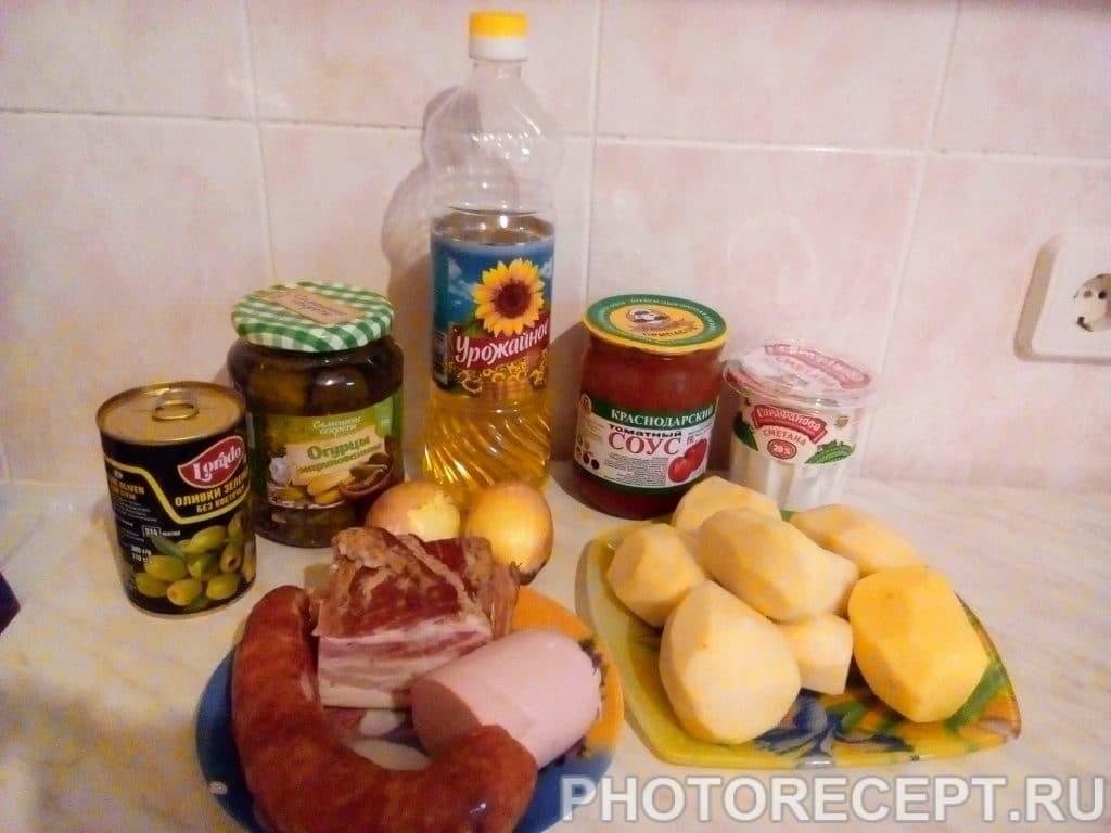 Фото рецепта - Солянка домашняя с колбасой - шаг 1