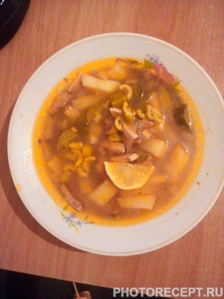 Фото рецепта - Солянка домашняя с колбасой - шаг 8