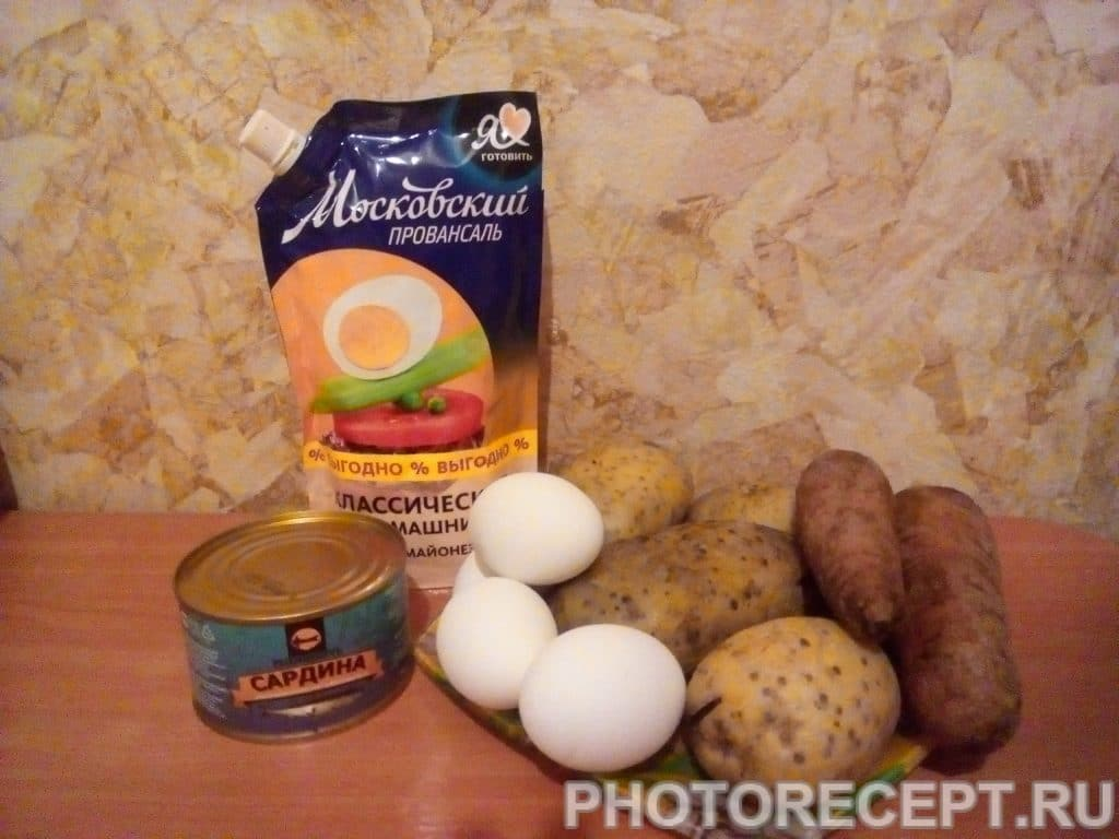 Фото рецепта - Салат мимоза (с рыбой) - шаг 1