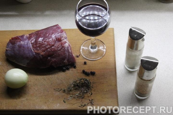 Фото рецепта - Стейк из говядины в винном маринаде - шаг 1