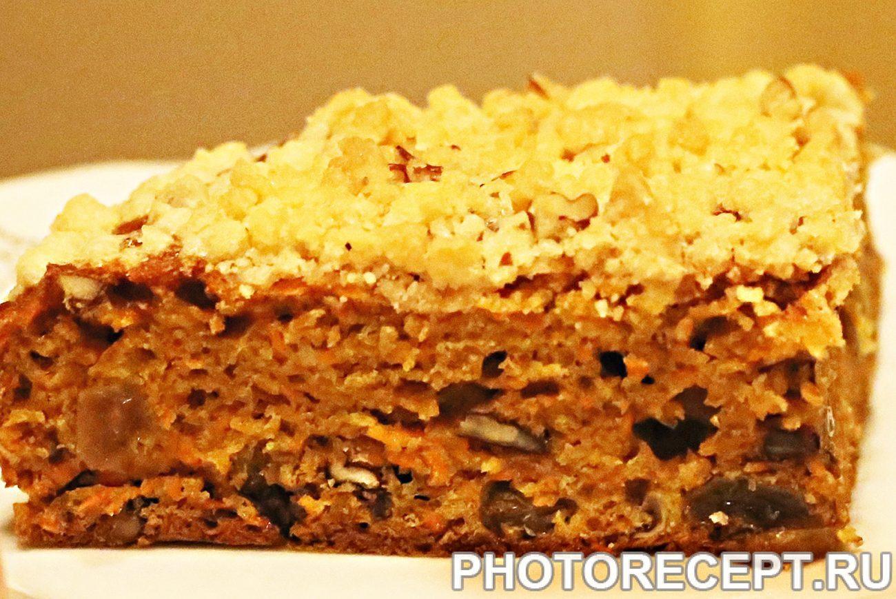 Морковный кекс с пеканом и штрейзелем