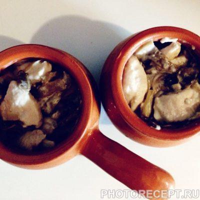 Фото рецепта - Жульен с нежным филе из куриной грудки - шаг 5