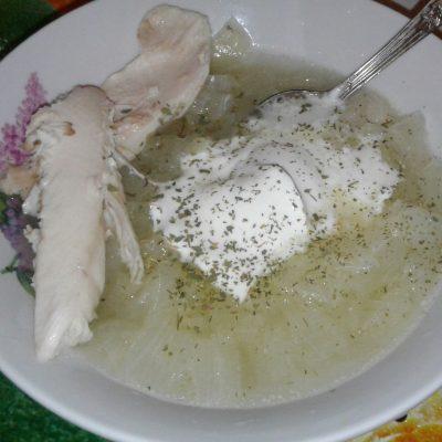 Суп луковый с куриным мясом - рецепт с фото