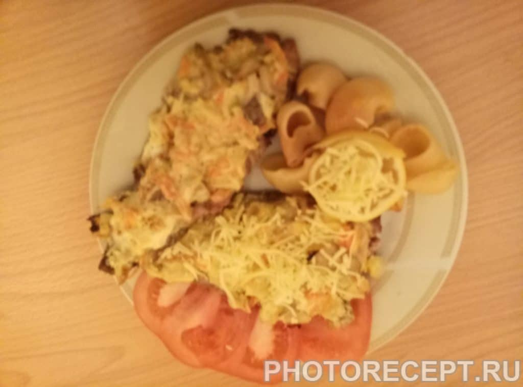 Фото рецепта - Скумбрия запеченная под шубой - шаг 5