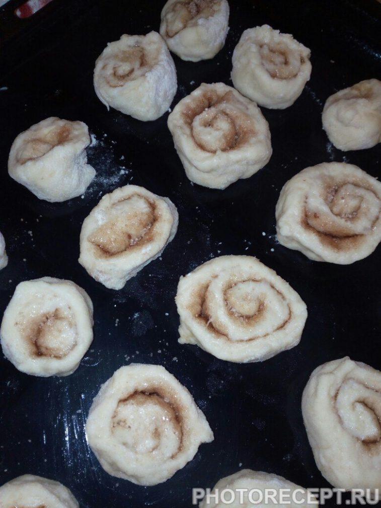 Фото рецепта - Ароматные булочки с корицей - шаг 5