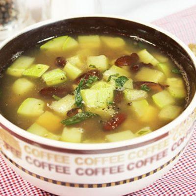 Овощной суп из кабачков и фасоли - рецепт с фото