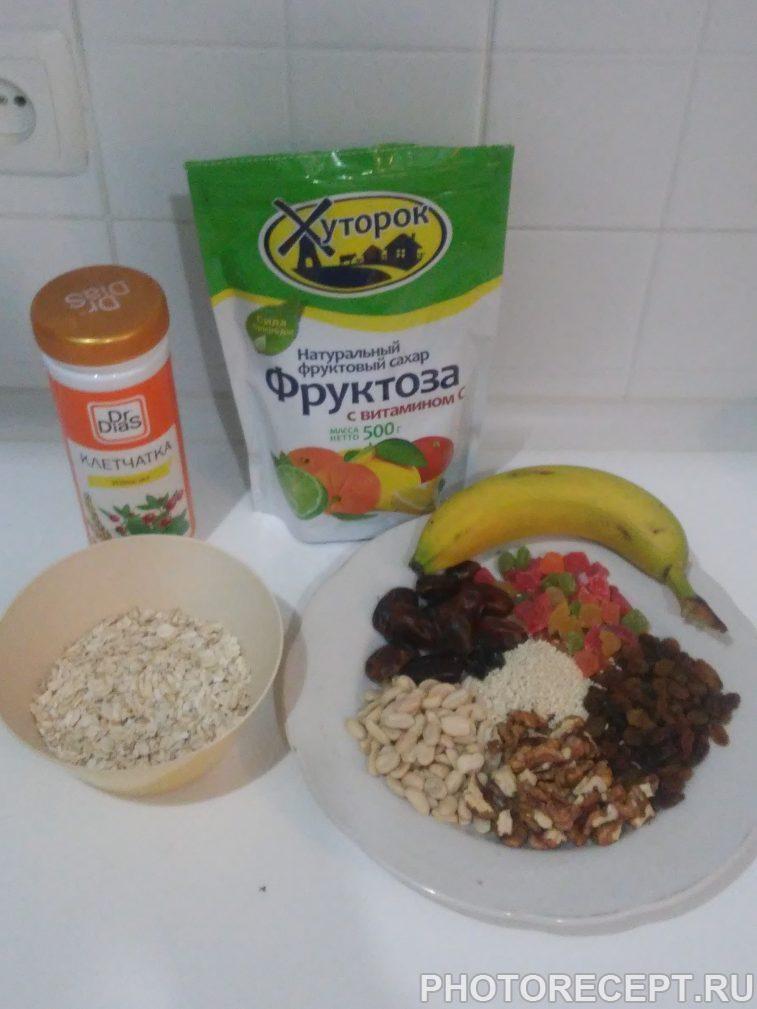 Фото рецепта - Вкусные и полезные фитнес-батончики (печенье) - шаг 1