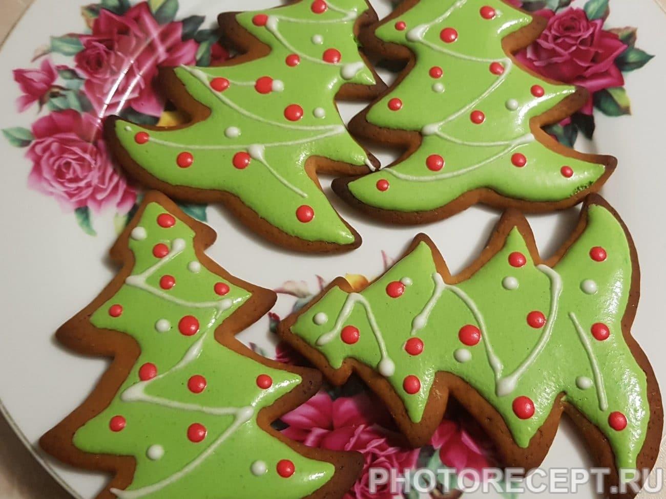 Рождественские пряники с глазурью (печенье)