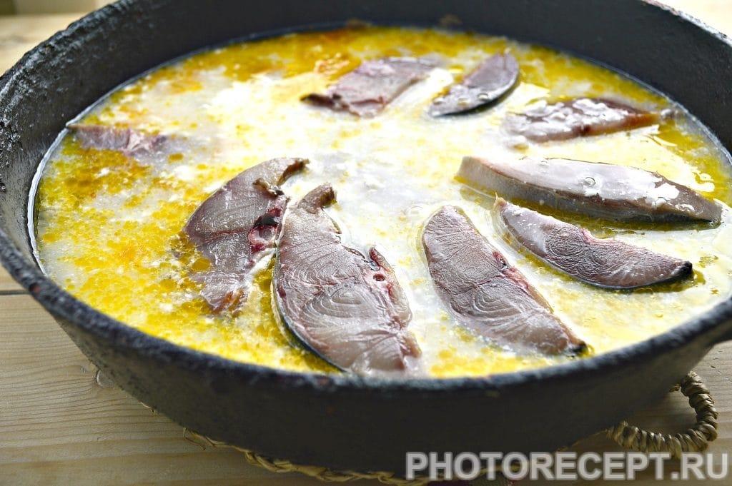 Фото рецепта - Тушеный тунец с овощами на сковороде - шаг 4