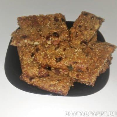 Вкусные и полезные фитнес-батончики (печенье) - рецепт с фото