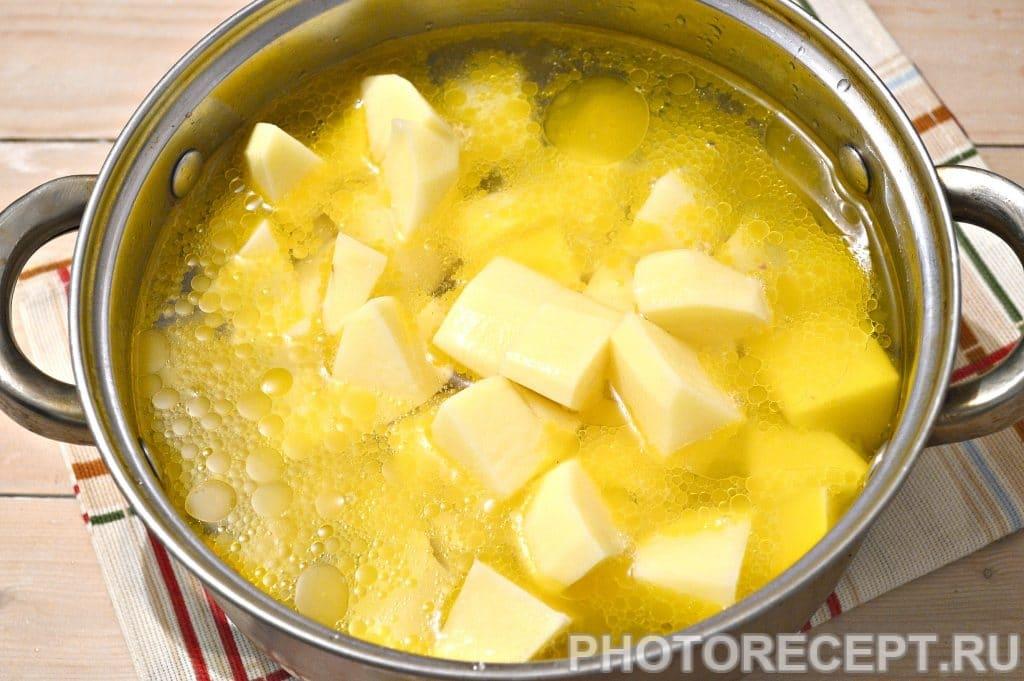 Фото рецепта - Картофельный суп со свининой и овощами - шаг 5