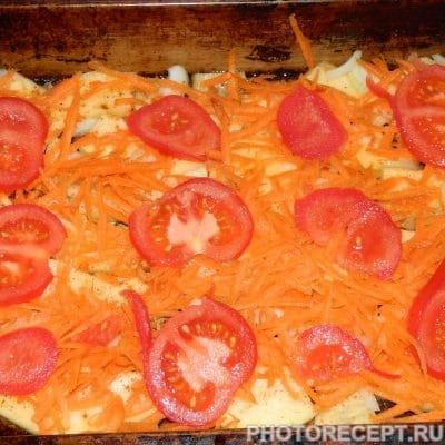 Фото рецепта - Кабачки, запеченные с овощами под сырным соусом - шаг 3