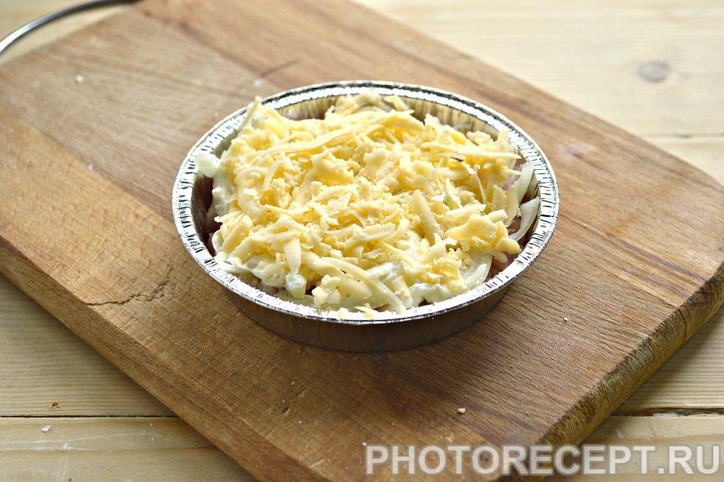 Фото рецепта - Мясо в духовке под сырной корочкой - шаг 5