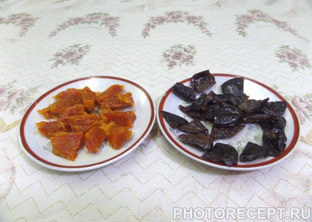 Фото рецепта - Запеченная фаршированная тыква с сухофруктами - шаг 4