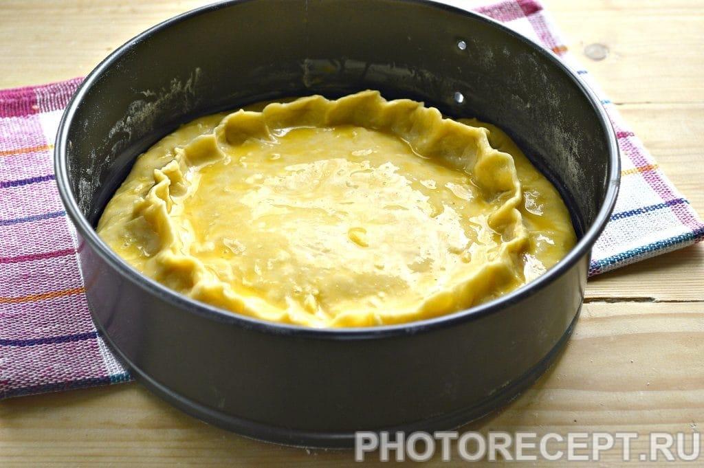 Фото рецепта - Творожный пирог с вареньем - шаг 6