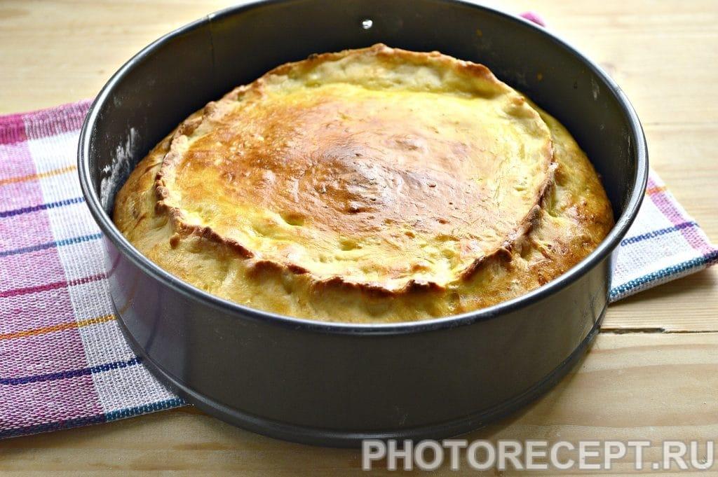 Фото рецепта - Творожный пирог с вареньем - шаг 7