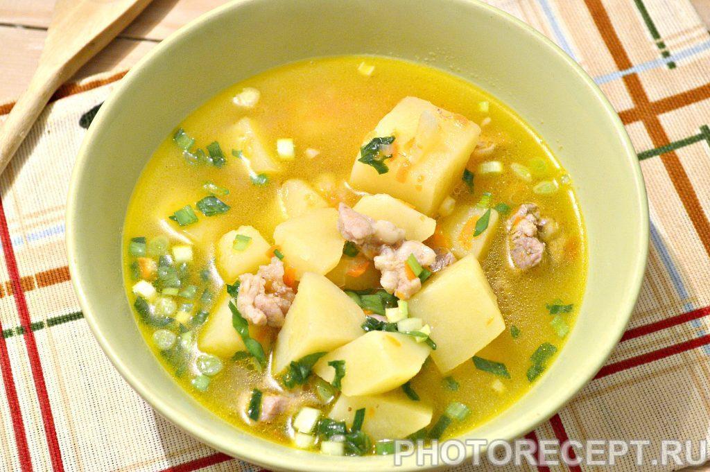 Фото рецепта - Картофельный суп со свининой и овощами - шаг 8