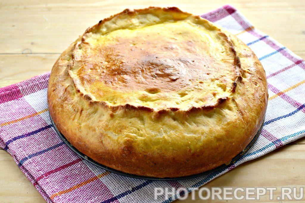 Фото рецепта - Творожный пирог с вареньем - шаг 8