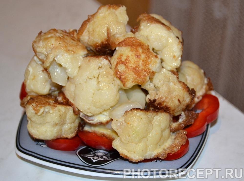Фото рецепта - Цветная капуста, обжаренная в яйце - шаг 6